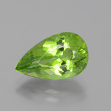 thumb image of 5.7ct Pear Facet Lively Green Peridot (ID: 399118)