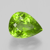 6.53 ct Pear Facet Lively Green Peridot Gem 13.09 mm x 9.9 mm (Photo B)