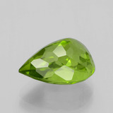 6.53 ct Pear Facet Lively Green Peridot Gem 13.09 mm x 9.9 mm (Photo C)