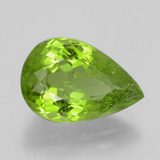 6.65 ct Pear Facet Lively Green Peridot Gem 14.72 mm x 9.8 mm (Photo B)