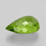 6.65 ct Pear Facet Lively Green Peridot Gem 14.72 mm x 9.8 mm (Photo C)