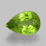 thumb image of 6.7ct Pear Facet Lively Green Peridot (ID: 399199)