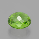 5.49 ct Oval Portuguese-Cut Lively Green Peridot Gem 10.73 mm x 9.4 mm (Photo C)