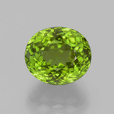 thumb image of 4.9ct Oval Portuguese-Cut Lively Green Peridot (ID: 399273)