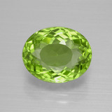 thumb image of 4.8ct Oval Portuguese-Cut Lively Green Peridot (ID: 399303)