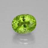 thumb image of 3.6ct Oval Portuguese-Cut Lively Green Peridot (ID: 399306)