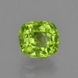 1.99 ct Cushion-Cut Lively Green Peridot Gem 7.54 mm x 6.8 mm (Photo B)