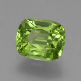 1.96 ct Cushion-Cut Lively Green Peridot Gem 8.29 mm x 7 mm (Photo B)