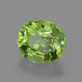 2.48 ct Oval Facet Lively Green Peridot Gem 8.84 mm x 7.7 mm (Photo B)