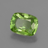2.23 ct Cushion-Cut Lively Green Peridot Gem 9.39 mm x 7.3 mm (Photo B)