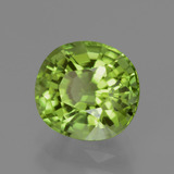 2.55 ct Oval Facet Lively Green Peridot Gem 8.41 mm x 7.9 mm (Photo B)