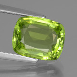 thumb image of 2.6ct Cushion-Cut Lively Green Peridot (ID: 437917)