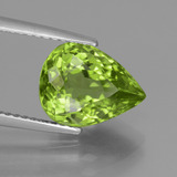 thumb image of 4ct Pear Facet Lively Green Peridot (ID: 442936)
