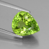 thumb image of 4.1ct Pear Facet Lively Green Peridot (ID: 442938)