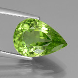 thumb image of 4.5ct Pear Facet Lively Green Peridot (ID: 442939)