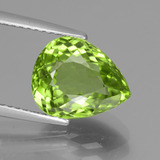 thumb image of 4.2ct Pear Facet Lively Green Peridot (ID: 442941)