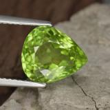 thumb image of 4.5ct Pear Facet Lively Green Peridot (ID: 442943)