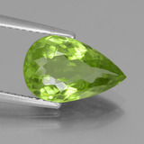 thumb image of 4ct Pear Facet Lively Green Peridot (ID: 442944)