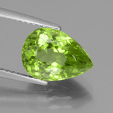thumb image of 4.1ct Pear Facet Lively Green Peridot (ID: 442945)