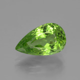 thumb image of 4ct Pear Facet Lively Green Peridot (ID: 443105)
