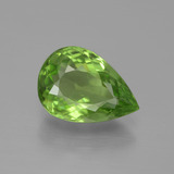thumb image of 3.6ct Pear Facet Lively Green Peridot (ID: 443107)