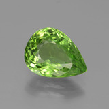 thumb image of 3.6ct Pear Facet Lively Green Peridot (ID: 443108)