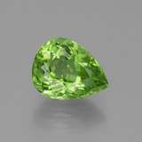 thumb image of 3.5ct Pear Facet Lively Green Peridot (ID: 443109)