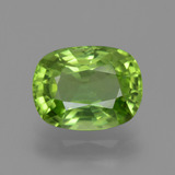 thumb image of 2.8ct Cushion-Cut Lively Green Peridot (ID: 446155)