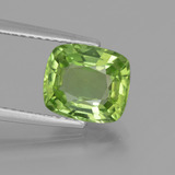 thumb image of 2.5ct Cushion-Cut Lively Green Peridot (ID: 446172)