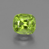 thumb image of 2.6ct Cushion-Cut Lively Green Peridot (ID: 447193)