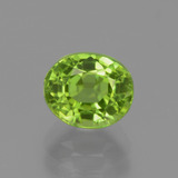 thumb image of 2.3ct Oval Facet Lively Green Peridot (ID: 447565)