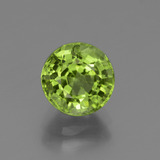 thumb image of 2.4ct Round Facet Lively Green Peridot (ID: 447591)