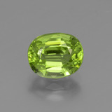 thumb image of 2.1ct Oval Facet Lively Green Peridot (ID: 447593)