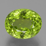 thumb image of 5.9ct Oval Portuguese-Cut Lively Green Peridot (ID: 456071)
