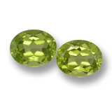 thumb image of 3.1ct Oval Facet Lively Green Peridot (ID: 461422)