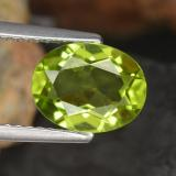 thumb image of 2ct Oval Facet Lively Green Peridot (ID: 461484)