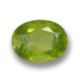 thumb image of 2.2ct Oval Facet Lively Green Peridot (ID: 461486)
