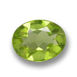 thumb image of 1.5ct Oval Facet Lively Green Peridot (ID: 461492)