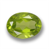 thumb image of 2.1ct Oval Facet Lively Green Peridot (ID: 461519)