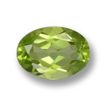 thumb image of 1.2ct Oval Facet Lively Green Peridot (ID: 461578)