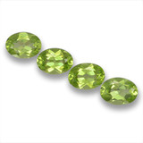 thumb image of 3.4ct Oval Facet Lively Green Peridot (ID: 461615)