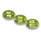 thumb image of 2.6ct Oval Facet Lively Green Peridot (ID: 461619)