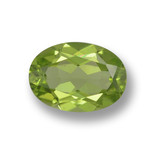 thumb image of 1.3ct Oval Facet Lively Green Peridot (ID: 461729)