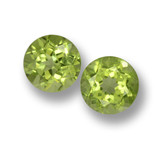 thumb image of 1.2ct Round Facet Lively Green Peridot (ID: 461746)