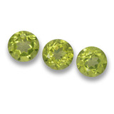 thumb image of 1.6ct Round Facet Lively Green Peridot (ID: 461747)
