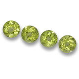 thumb image of 2.3ct Round Facet Lively Green Peridot (ID: 461751)