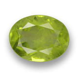 thumb image of 2ct Oval Facet Lively Green Peridot (ID: 461781)