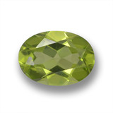 thumb image of 0.8ct Oval Facet Lively Green Peridot (ID: 461794)