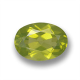 thumb image of 0.9ct Oval Facet Lively Green Peridot (ID: 461796)