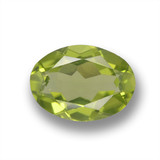 thumb image of 0.8ct Oval Facet Lively Green Peridot (ID: 461797)